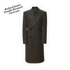 Olive double breasted overcoat