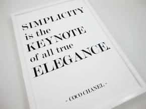 original simplicity coco chanel-quote