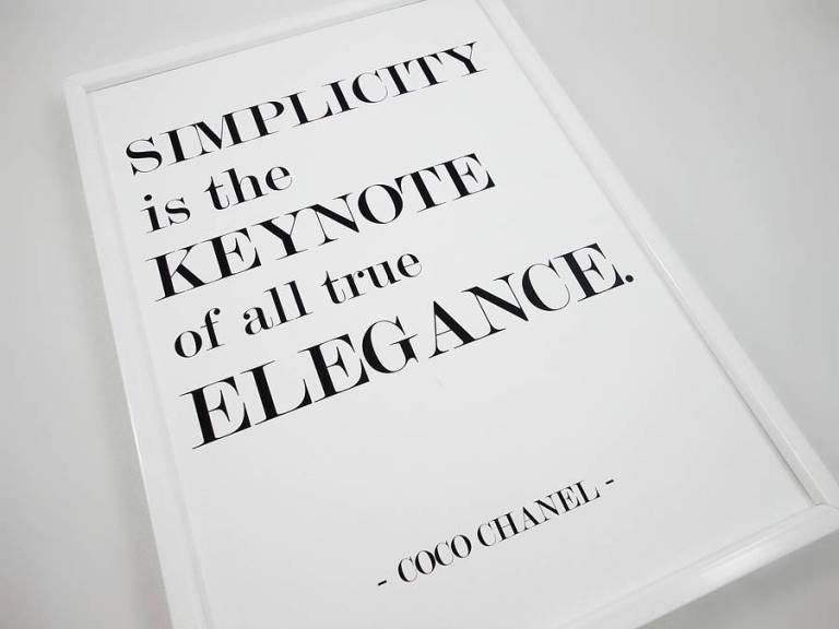 original simplicity coco chanel-quote