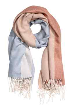 H&M Block Patterned Scarf
