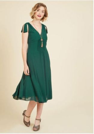 Emerald Midi dress Mod Cloth