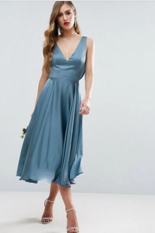 Asos Wedding Premium Midi Dress
