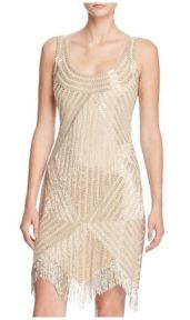 Aidan Mattox Bead Embellished Dress