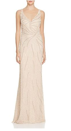Aidan Mattox Embellished Mesh Illusion Gown - Bloomingdale's