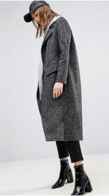 Boyfriend Fit Coat - Asos