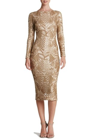 Dress the Population Emery Midi Dress - Nordstrom