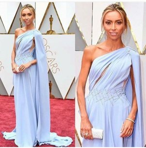 Giuliana Rancic - Georges Chakra Couture dress & Christian Louboutin Clutch