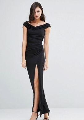 Jessica Wrigth Off shoulder Maxi Dress - Asos