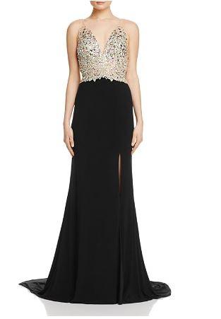 Jovani Fashion Embellished bodice Gown - Bloomingdale's