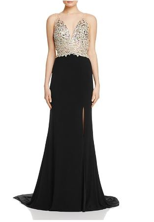 Jovani Fashion Embellished bodice Gown - Bloomingdale's