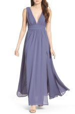 Lulus Plugging V-Neck Chiffon Dress - Nordstrom