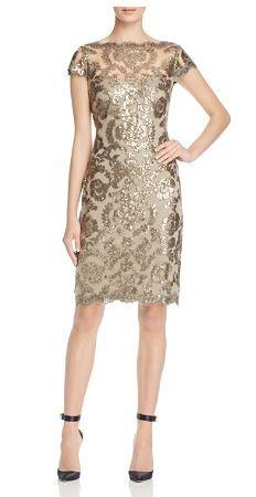 Tadashi Shoji Cap Sleeve Sequin Dress - Bloomingdale's