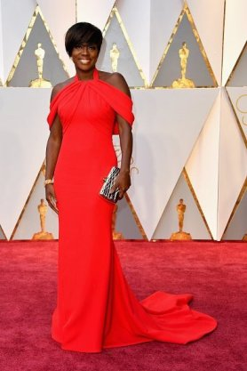 Viola Davis - Armani with a Bally bag