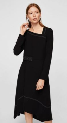 Mango - Black Asymetric Dress